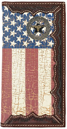 Long United with Distressed States Flag Custom Star American Flag Wallet Longhorn wxHqwIaU