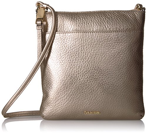 Calvin Klein Classic Pebble Key Item Top Zip Crossbody by Calvin Klein
