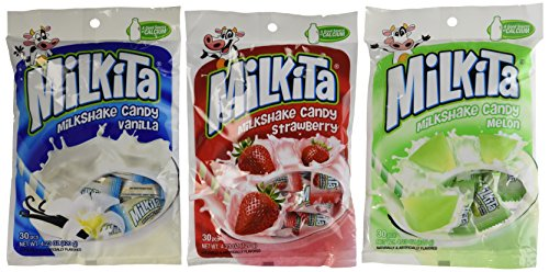 - Unican Milkita Candy Variety Pack: Classic Milk, Strawberry, Melon Flavors