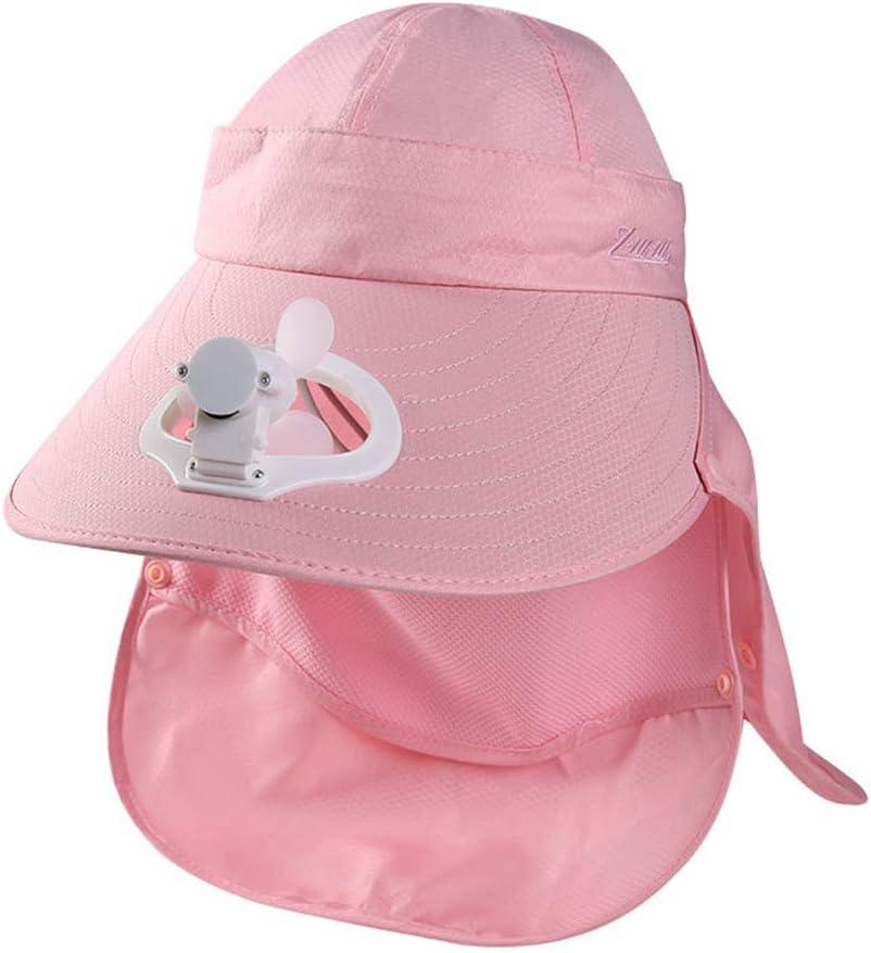 Wosiky Sombrero con Ventilador, Gorra de protección Solar ...