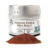 Gustus Vitae Ancho Chile Sea Salt, 2.8 Ounce,Gourmet Salt