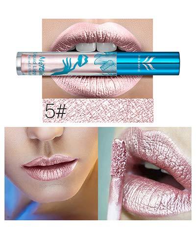 Shimmer Liquid Lip Gloss Matte Makeup Metallic Lipstick Long Lasting Lips Moisturizer Lipgloss ()