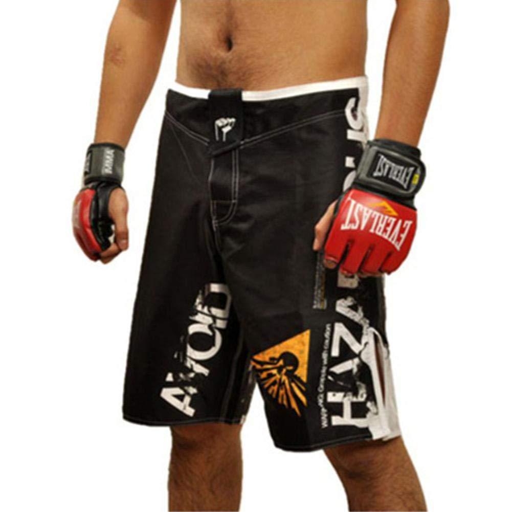 Boxen Fight Shorts UFC MMA Grappling Short f/ür Training und Sparring Ksruee Herren Erwachsene Boxerhose