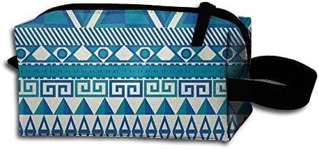LKJHG - Estuche de Maquillaje para Mujer, diseño geométrico islámico sin Costuras, Bolsa de cosméticos de Viaje para niñas, Bolsa de Aseo Oxford: Amazon.es: Hogar