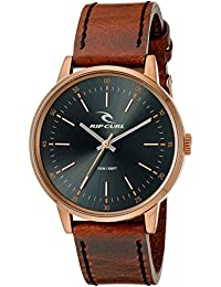 Mens Drake Bronze Quartz Stainless Steel and Leather Sport Watch, Color:Brown