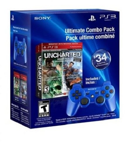 Ultimate Combo Pack: UNCHARTED Greatest Hits Dual Pack & DUALSHOCK3 wireless controller - Playstation 3 (Uncharted Ps3 Bundle)