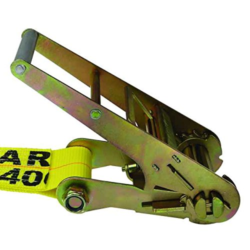 4'' X 30' Heavy Duty Ratchet Tie Down Strap with Flat Hooks