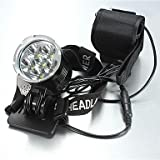 ZWC LT-908207 5Mode 6xCREE XM-L T6 Bike Bicycl LED HeadLamp(8400LM.4X18650.Black)