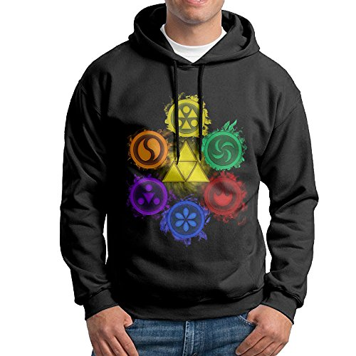 Price comparison product image Legend Of Zelda Ocarina Of Time The 6 Sages Men's O Neck Sweatshirt