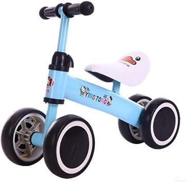 HBRT Equilibrio para bebés Bicicletas Mini Bicicleta para niños Caminante 12-36 Meses Juguetes 1 año de Edad sin Pedal Infantil 4 Ruedas niño Primer cumpleaños año Nuevo Regalo niño niña,Blue: Amazon.es: Deportes