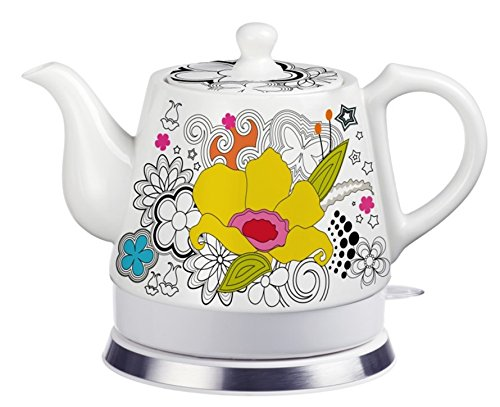 ot, Ceramic, Teamaker, Large Yellow Flower 12039 ()