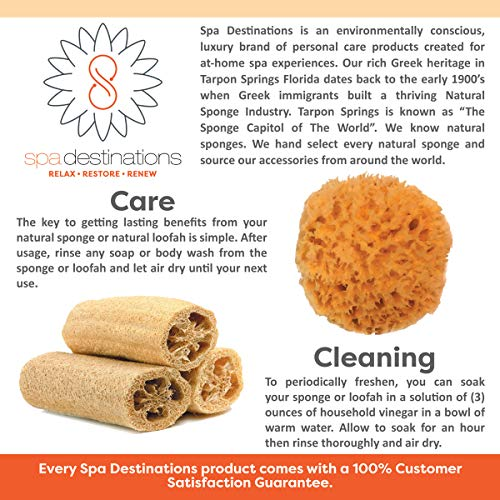 Super Savings Six (6) Pack of 4'' Loofahs!! by Spa Destinations. by Spa Destinations (Image #3)