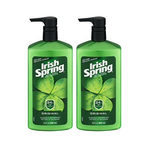 Irish Spring Body Wash Pump, Original - 32 fluid ounce - 2 Packs (Fresh Body Mask Get)