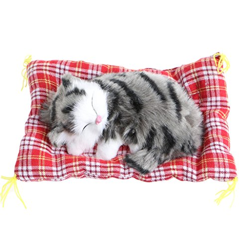 ONcemoRE Press Simulation Sound Animal Doll, Plush Stuffed Toy Cute Sleeping Cat for Kids Children ()