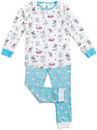 OceanBluu Conjunto de pijama de manga larga para niñas, 100 ...
