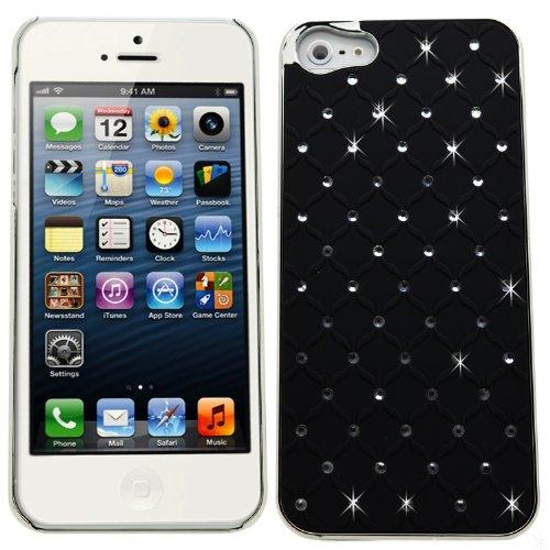Samrick 0000433246 punkt Bling Diamante Schutzhülle für Apple iPhone 5/5G/5S orange/silber