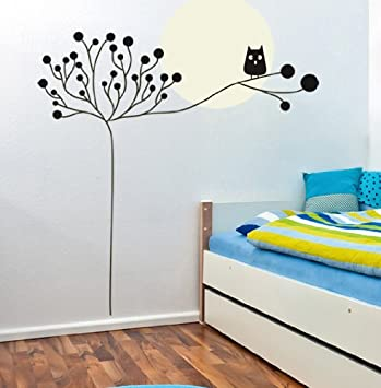 Large Tree Owl Wall Decal For Nursery Baby Girls Boys Kids Room Walls  (Other ( Part 49