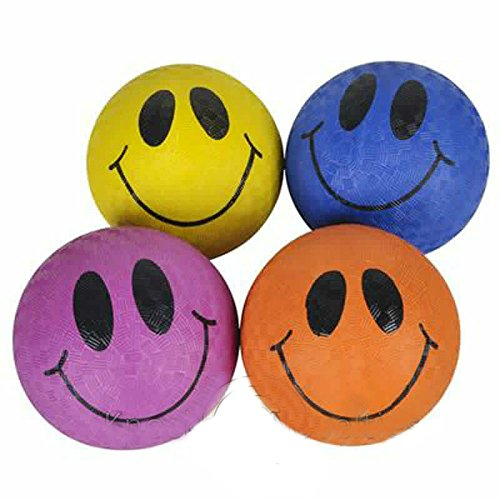 5'' Smile Face Playground Ball Novelty Gift Item Play Fun Outdoor Toy by Unknown
