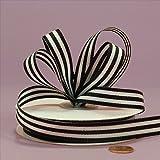 Black Jenna Striped Grosgrain Ribbon, 5/8'' X 25Yd