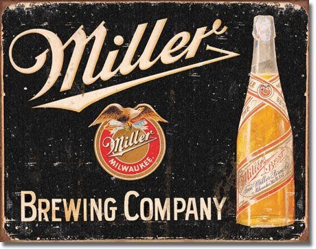 Poster Discount Miller Brewing Vintage Tin Sign, 16x12