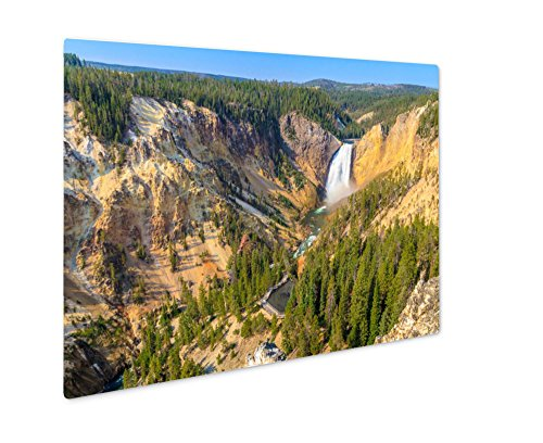 Grand Canyon Yellowstone Park - Ashley Giclee Lower Falls Of The Grand Canyon Of The Yellowstone National Park, Wall Art Photo Print On Metal Panel, Color, 8x10, Floating Frame, AG6133210