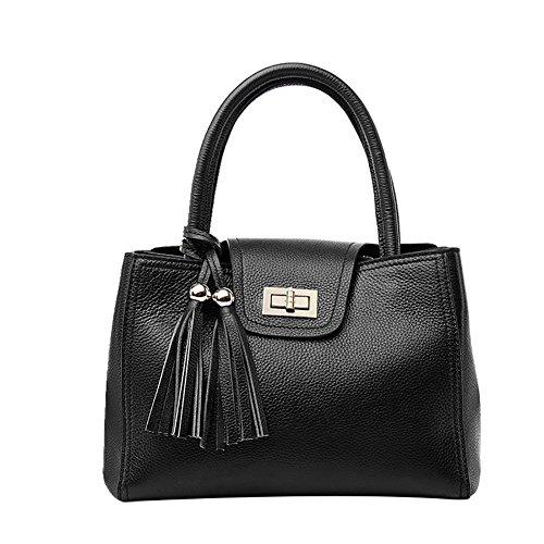 Mena UK-femminile semplice del cuoio sintetico di cuoio molle della borsa / Tracolla / Messenger Bag / Motorcycle Bag