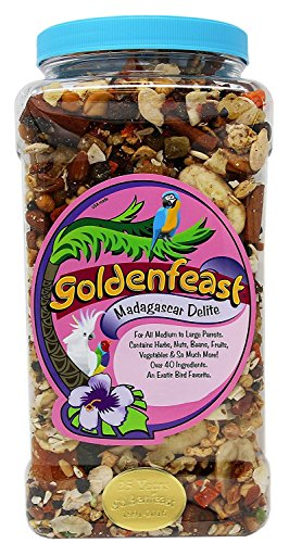 Goldenfeast Madagascar Delite Bird Food, 25 Ounces, for African Grays and Other Medium to Large ()