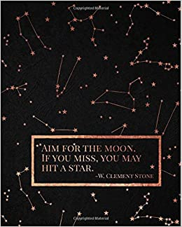 W Clement Stone Inspirational Notebook Aim For The Moon If You