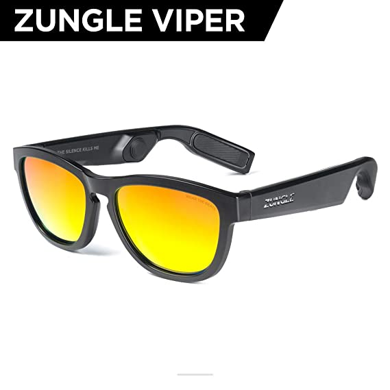 5c4d2b3bf177 ZUNGLE V2 Viper  Bluetooth Audio Sunglasses with Over Ear True Wireless  Bone Conduction Headphones.