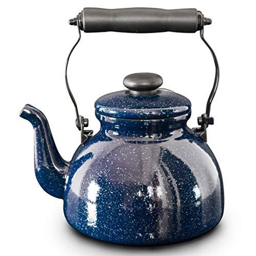 Tetera de esmaltada - 2L, para Gas, Llama Abierta, Cocina de inducción, Estufa de cerámica eléctrica (Blue Star): Amazon.es: Hogar