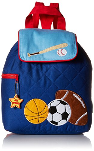 Stephen Joseph Quilted Backpack, Blue Sports (Sports Quilted Backpack)