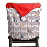 Llama Animal Christmas Chair Covers STYLISH Red Chair Covers For Christmas For Boyfriends Chair Back Covers Holiday Festive