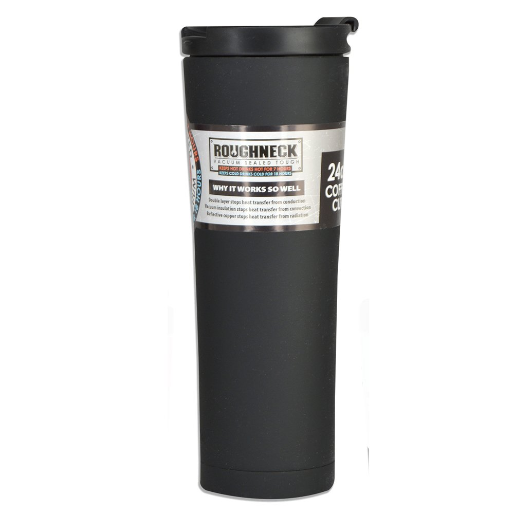 Roughneck 24 oz. Stainless Steel Insulated Travel Coffee Mug - Black