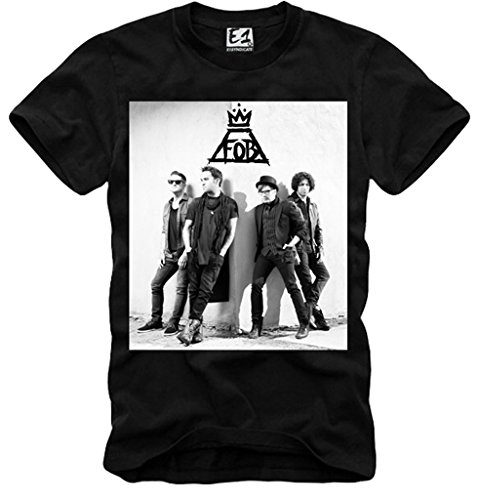 E1SYNDICATE T-SHIRT FOB FALL OUT BOY TOUR CONCERT TICKET CD LP BAND BLACK S-XL (Tour Ticket Child)