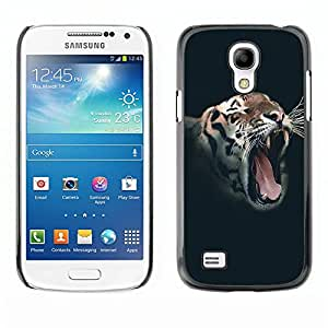 [Neutron-Star] Snap-on Series Teléfono Carcasa Funda Case Caso para Samsung Galaxy S4 Mini i9190 (NOT S4) [Rugido del tigre salvaje Vignette animales Rayas]