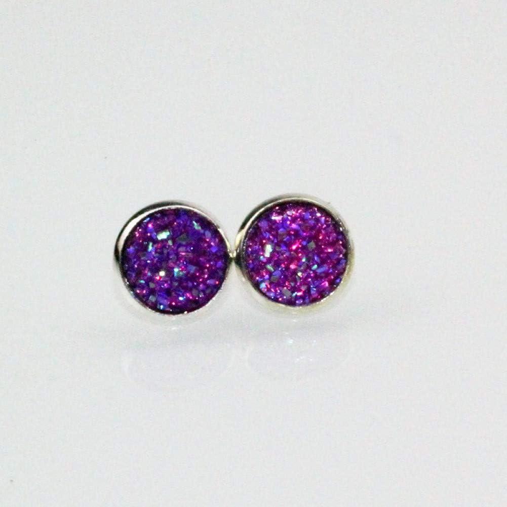 SSEHXL Pendientes 6 Colores Ronda de Cristal de Moda EarStuds Pendientes de Color Caramelo Encanto Studs Pendientes para Mujer y niña de Regalo