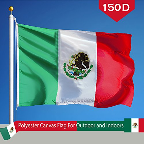 G128 Mexico Mexican Flag 150D Quality Polyester 3x5 ft Print