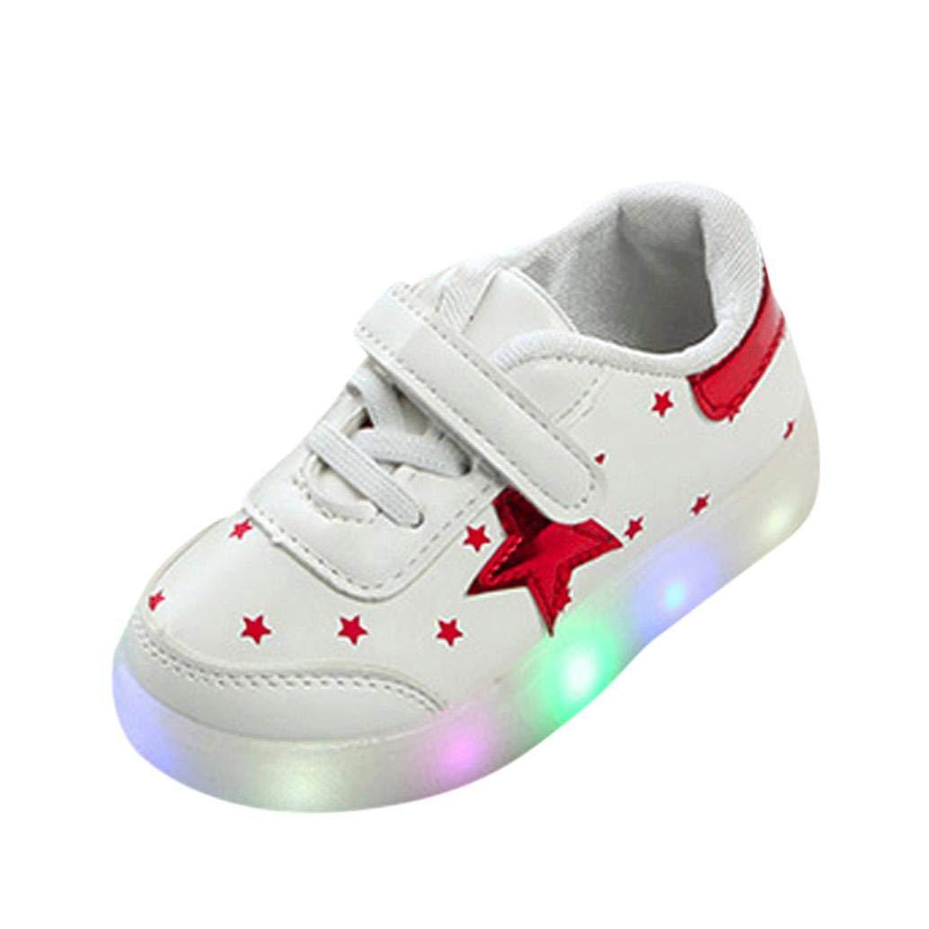 ELECTRI Bébé Chaussures d'éclairage Sneakers des Gamins LED Lumineux Étoile Lumineux Baskets, Mode Enfants Confortable Chaussures de Sport