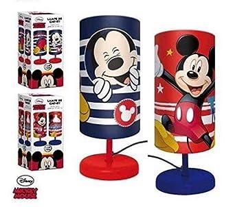 Chevet Mickey Lampe Disney Enfant En Chambre Cylindre Bleu De Mouse LjAqc4R35