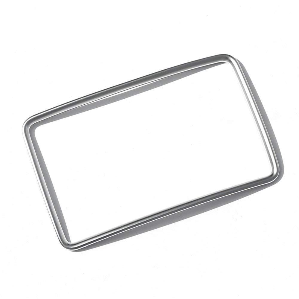 2 Piezas//Conjunto para GLA//CLA//A//B Clase 2014-2017 Cubierta de Marco de Salida de Aire Trasero Trim Car ABS pl/ástico Cromo Plata Accesorio para veh/ículo Interior