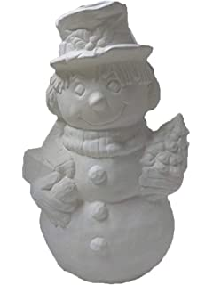 Ready to Paint Larry Snowman 6 Ceramic Bisque