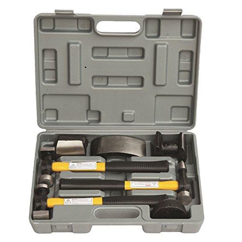 (HFS (R) 7 Pcs Set Auto Body Fender Repair Tool Hammer & Dolly Set)
