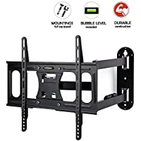 CLEARANCE! TV Wall Mount Bracket with Full Motion Dual Articulating Arm for most of 32-55 Inches LED, LCD and Plasma TVs up to VESA 400x400mm and 66 lbs
