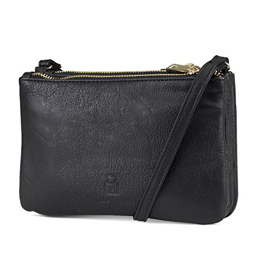 Womens With RFID amp; Bag Connect Wallet Mundi Charger Portable Blocking Black Crossbody Bonus Protect nBzqnTX
