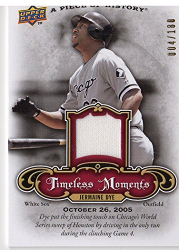 2009 UD A Piece of History Timeless Moments Jersey Red #TMJD Jermaine Dye Jersey /180 - NM-MT
