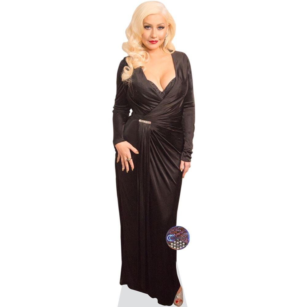 Celebrity Cutouts Christina Aguilera (schwarz Dress) Pappaufsteller lebensgross
