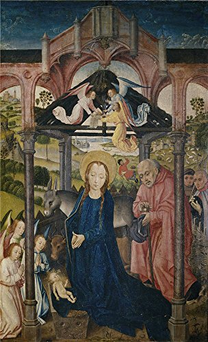 Oil Painting 'Maestro De Sopetran La Natividad Ca. 1470 ' Printing On Perfect Effect Canvas , 16 X 26 Inch / 41 X 67 Cm ,the Best Kids Room Artwork And Home Artwork And Gifts Is This Cheap But High Quality Art Decorative Art Decorative Prints On Canvas (Oz Park Chicago Halloween)