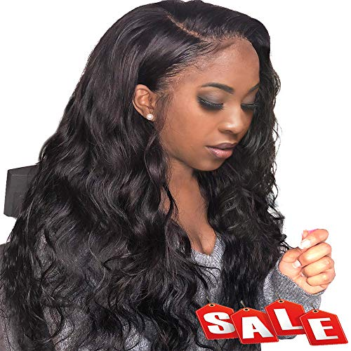FASHION PLUS Full Lace Wig Human Hair Brazilian Body Wave Human Hair Wigs With Baby Hair Natural Hairline Human Hair Full Lace Wigs 150% Density (16 inch, Full Lace - Wig Remy Full Lace