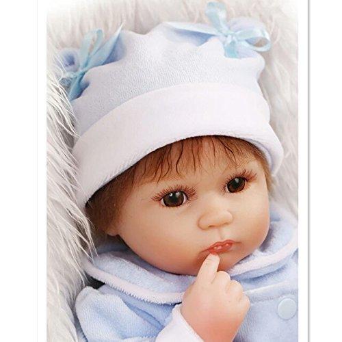 [37CM Silicone Reborn Dolls Handmade Realistic Baby Doll 15 Inch Silicone Reborn Baby Newborn Toys for Children Birthday] (Van Gun X Sword Costume)