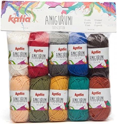Katia - Mini ovillos de lana de algodón para Amigurumis, color S01 Les Pastels, S05 Automne, 3.5: Amazon.es: Hogar
